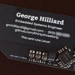 組み込みエンジニアが約300円のLinux内蔵名刺を作った模様